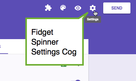 fidget spinner settings cog