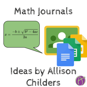 Math journal ideas by Allison Childers