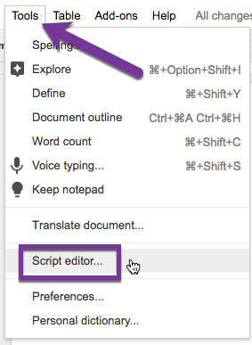 Script Editor