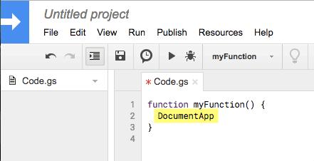 DocumentApp in Apps Script