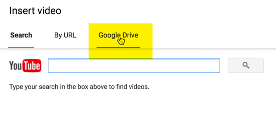 Student chooses Google Drive