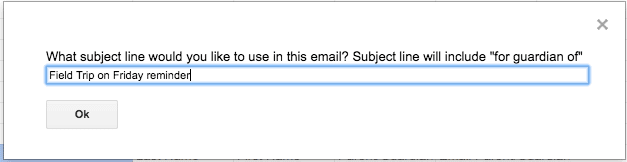 Subject Line of Email