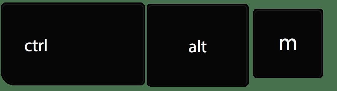 control alt m chromebook