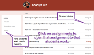 Students work page
