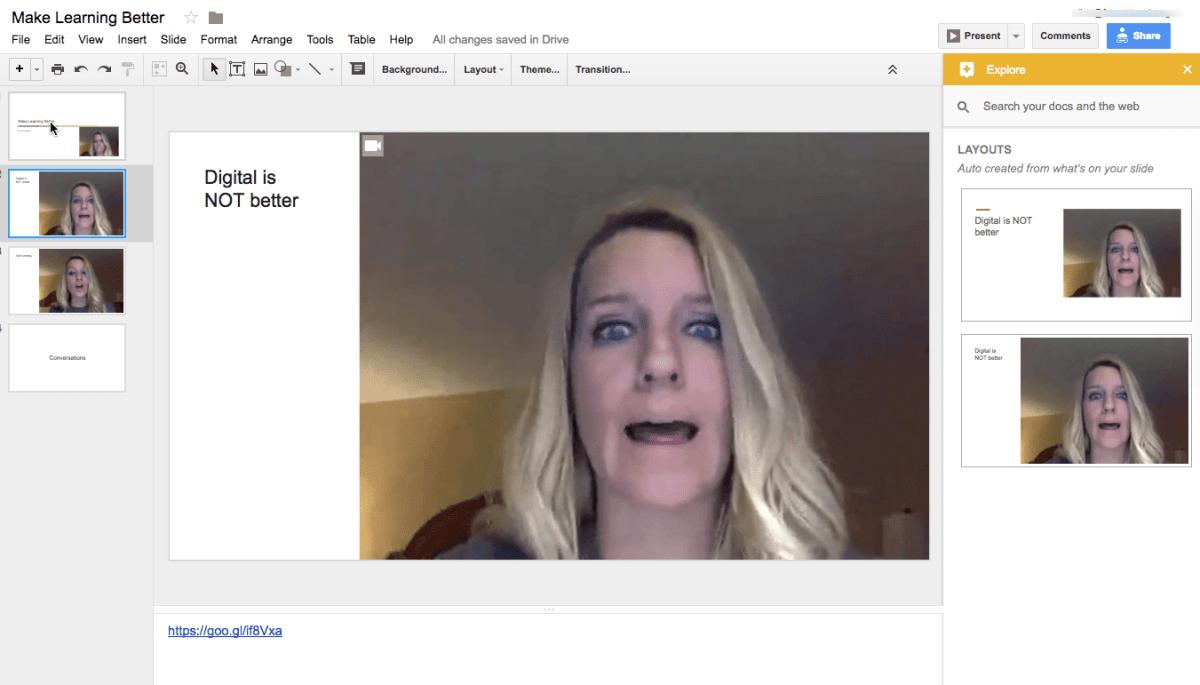 webcam in google slides