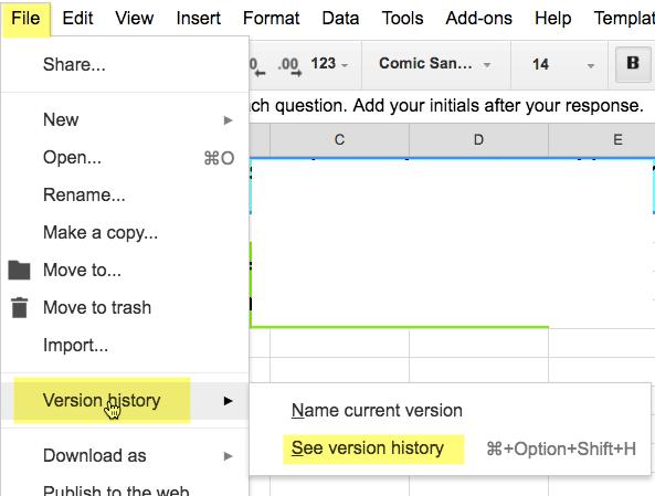 Google Apps Version History Stop Making Copies Teacher Tech