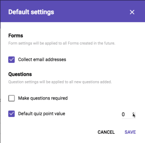 Preferences is actually Default Settings