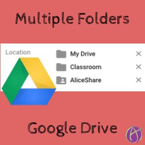 Multiple folders in google drive