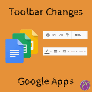 Toolbar changes google apps