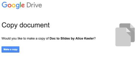 Make a copy of Doc to Slides