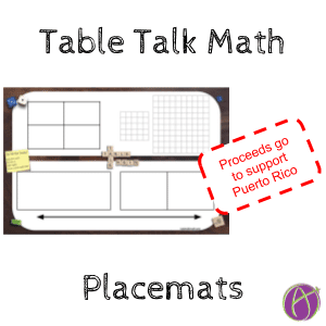 Table Talk Math Placemats