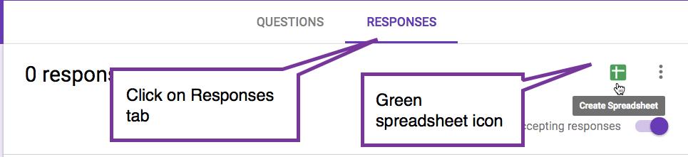 Responses tab