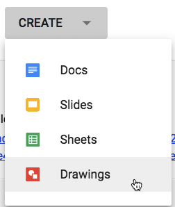 create a google drawing in Google Classroom
