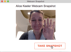 Webcam Snapshot take snapshot