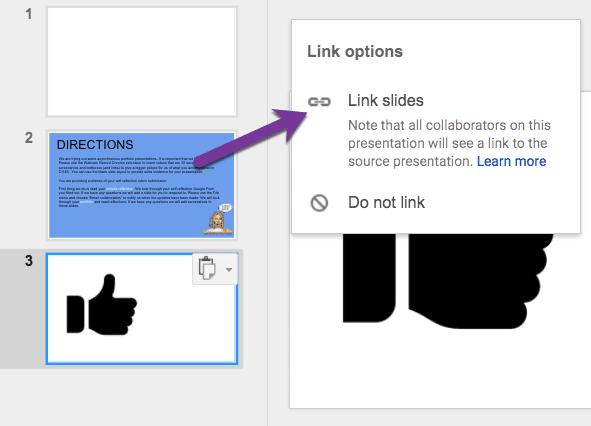 Link slides option