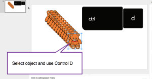 Control D in Google Slides