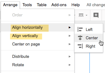 align horizontally