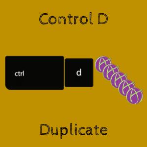 Control D Duplicate