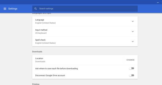 Change default downloads to DRive