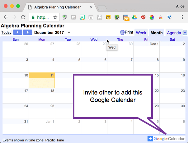 Add this calendar to your calendar
