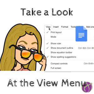 Take a look at the view menu