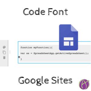 code font google sites