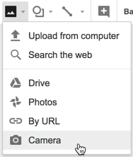 Insert Via Camera in G Suite