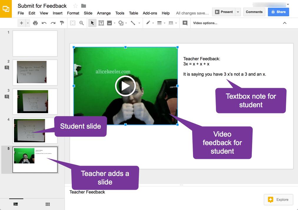 Add a teacher slide
