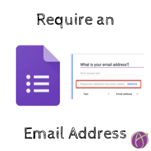 Google Forms require email