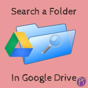 Search Google Drive Folder