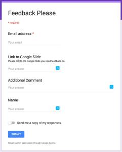 Link to Google Slides in a google form