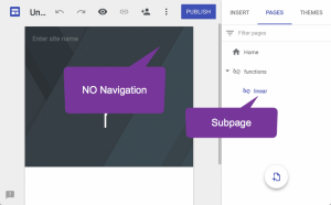 Create a subpage and it is hidden