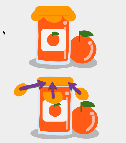 Marmalade lid is 4 shapes pushed together.