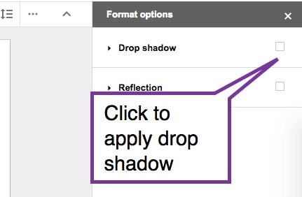 Click to apply drop shadow