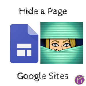 hide a page in google sites