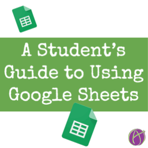 students guide to using google sheets