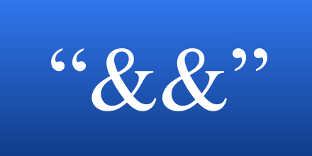 quotation ampersand ampersand quotation