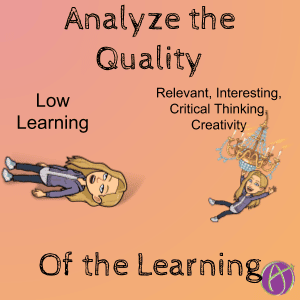analyze the quality of the learning