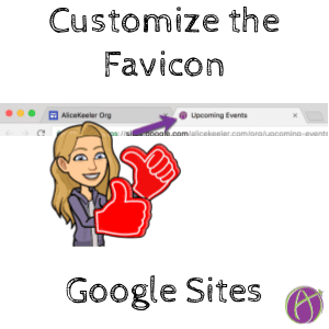 customize favicon google sites alice keeler