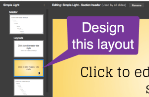 design the section header layout