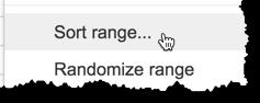 Sort Range