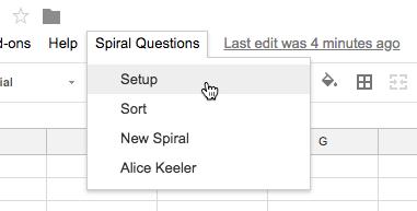 Setup Spiral Questions