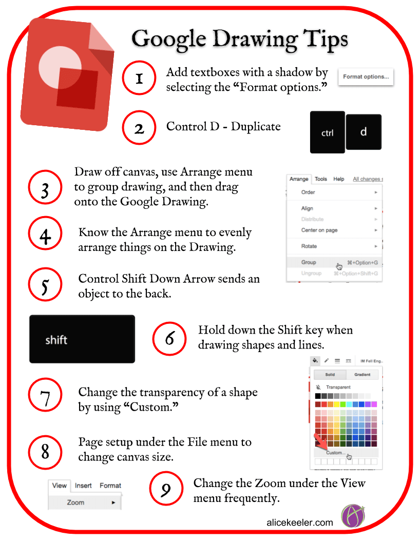 Google Drawing Tips Guide