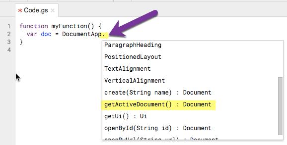 getActiveDocument