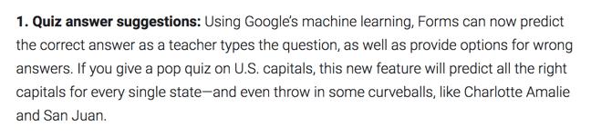 Google Forms quiz prediction
