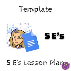 5 E's lesson plan template