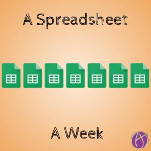 A spreadsheet a week google sheets alice keeler