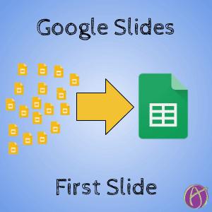 Google Slides: First Slide