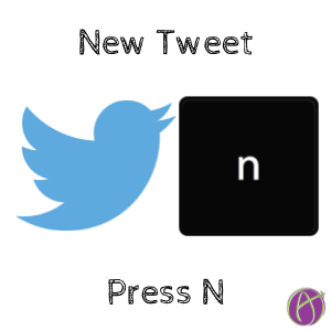 Press N for a new tweet