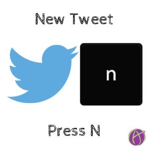 Press N for a new tweet